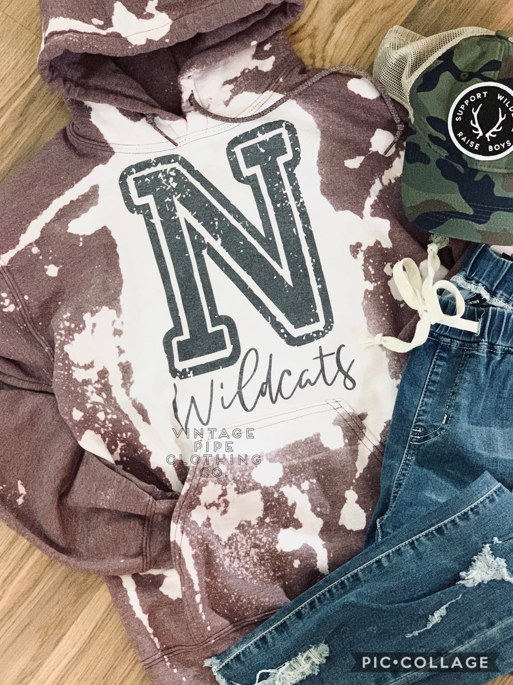 Bleached NEWARK WILDCATS Sweatshirts and Tees