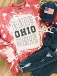 Bleached and Distressed OHIO Spirit Top