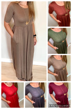 Soft and Stretchy Maxi Dress (Grey)*