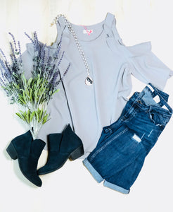 The Allison Top (Grey)*