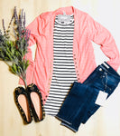 Your Favorite Snap Cardi (Pink)*