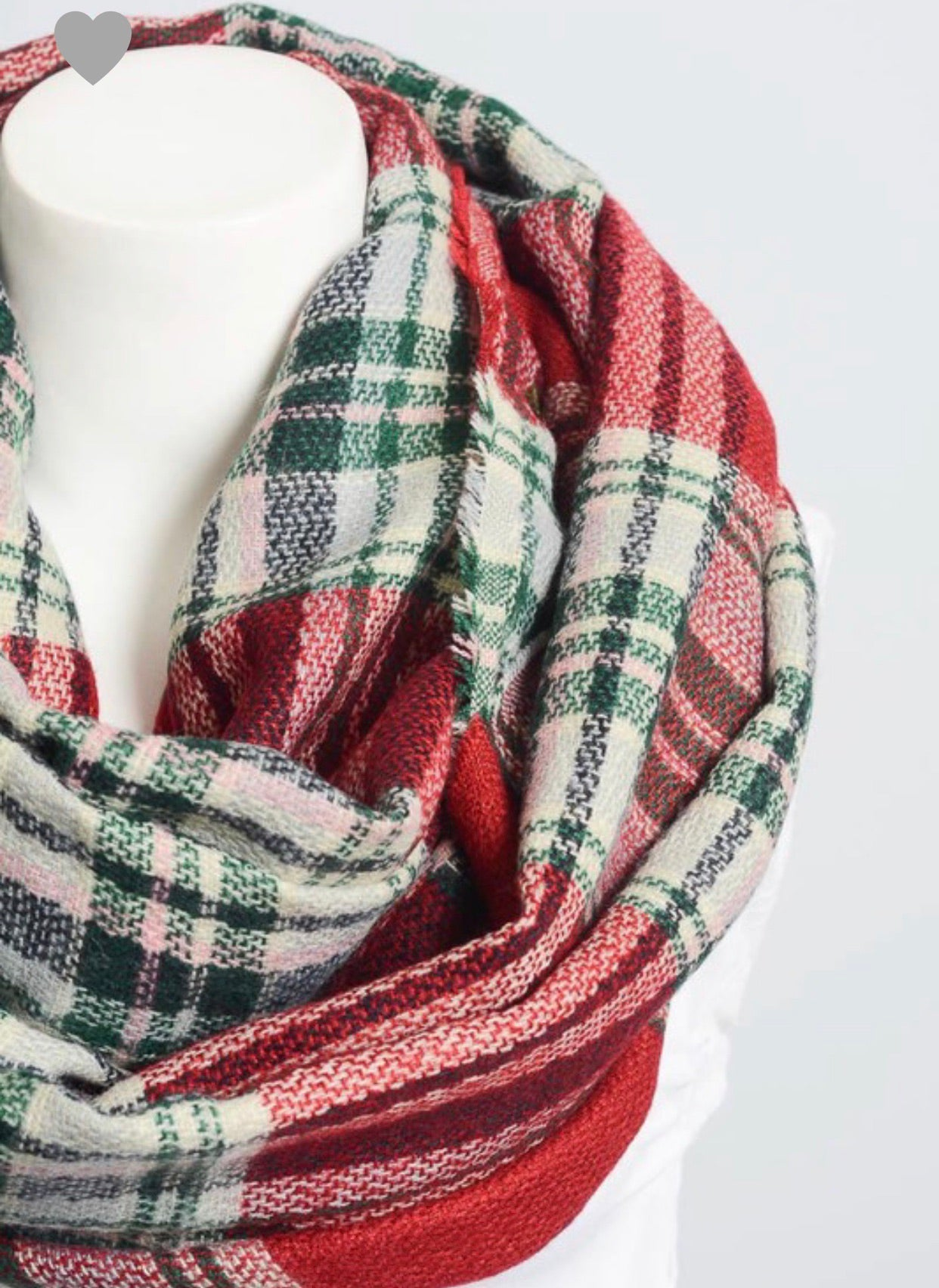 Flannel Frayed Edge Infiniti Scarf*