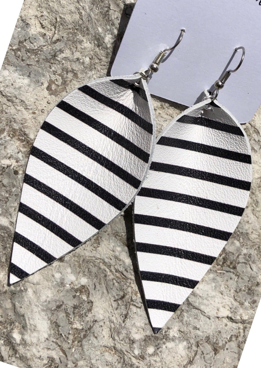 Striped JoJo Earrings