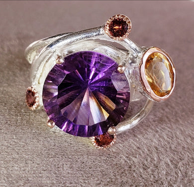 Amethyst Galaxy Ring size 6