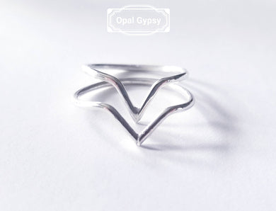 Sterling Silver Chevron Ring All sizes Avaliable