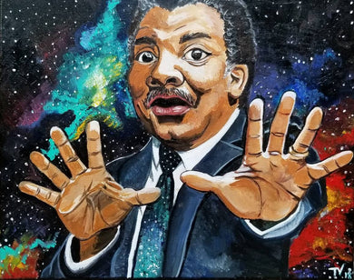 Neil Degrasse Tyson Cosmos Painting Print 11x17