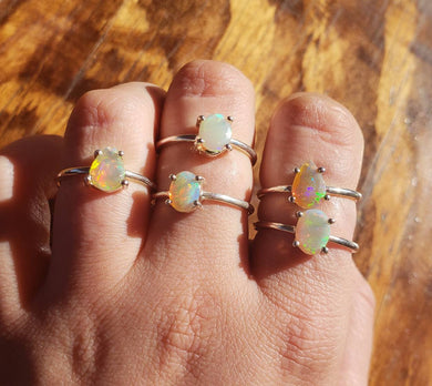 Simple Welo Opal Ring sizes 7-9 avaliable
