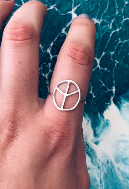 Peace Out Ring • All sizes available • sterling silver •  gifts for her • dainty silver ring • cute silver ring • affordable birthday gits •