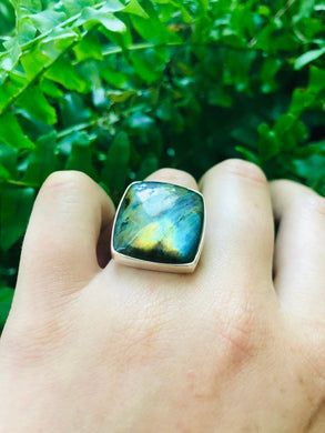 Labradorite Lights Ring sz 6