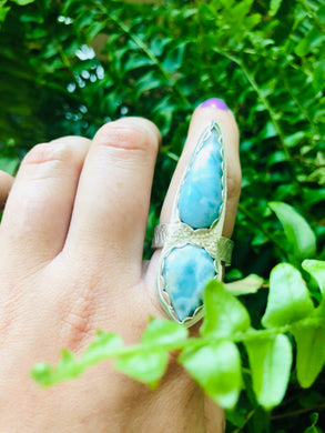 Larimar Ocean Ring fits sizes 8-9
