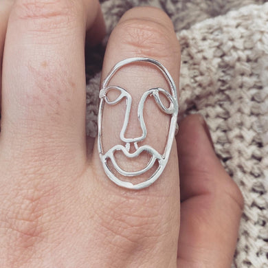Mask Off • Silver face ring • all sizes available