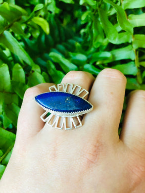 Lapis Statement Ring size 7.5
