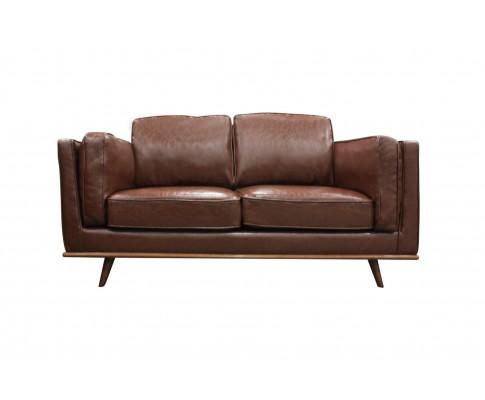 2 Seater Stylish Leatherette Brown York Sofa | 360HomeWare