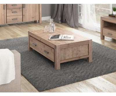 Jake 2 Drawer Coffee Table | 360HomeWare