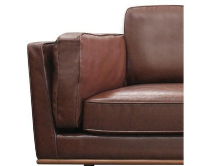 3 Seater Stylish Leatherette Brown York Sofa | 360HomeWare