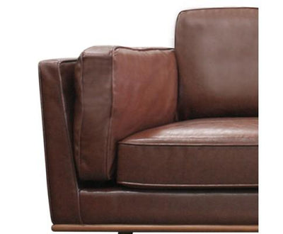 1 Seater Stylish Leatherette Brown York Sofa | 360HomeWare