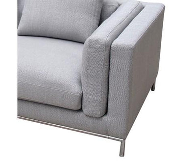 Carlton Grey Linen Fabric Cover Sofa | 360HomeWare