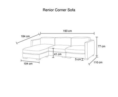 Renior Corner Sofa 3 Seater with Chaise | 360HomeWare