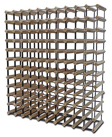 120 Bottle Wooden Wine Rack - NATURAL WOOD COLOUR | 360HomeWare