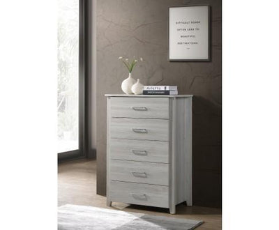 5 Chest Of Drawers Tallboy In White Oak | 360HomeWare