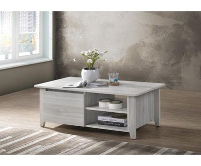 Coffee Table With Open Drawer In White Oak | 360HomeWare