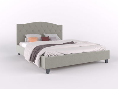 Lars Fabric Bed Frame - Beige | 360HomeWare