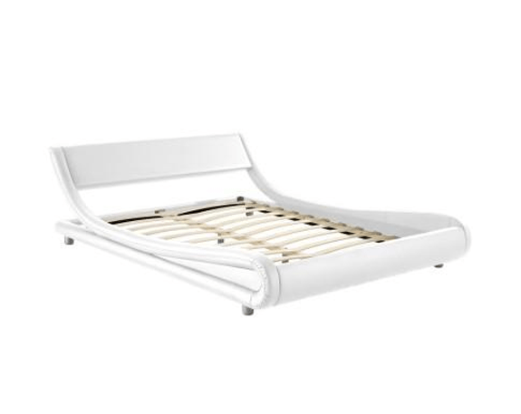 Seb  PU Leather Bed Frame - White | 360HomeWare