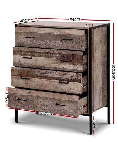 Industrial Chest of Drawer Tallboy | 360HomeWare