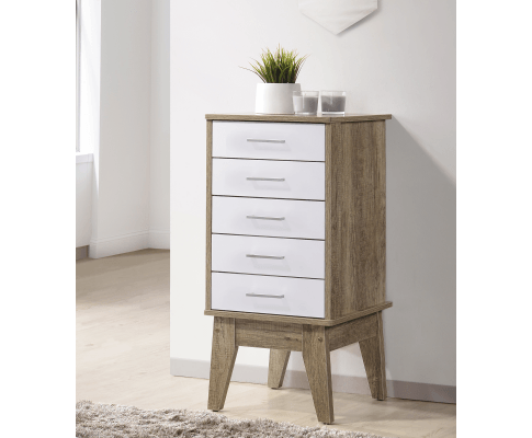 Slimboy 5 chest of drawers Oak | 360HomeWare
