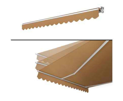 4M x 2.5M Outdoor Folding Arm Awning - Beige | 360HomeWare