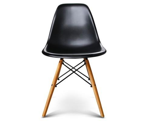 Set of 4 Retro Beech Wood Dining Chair - Black | 360HomeWare