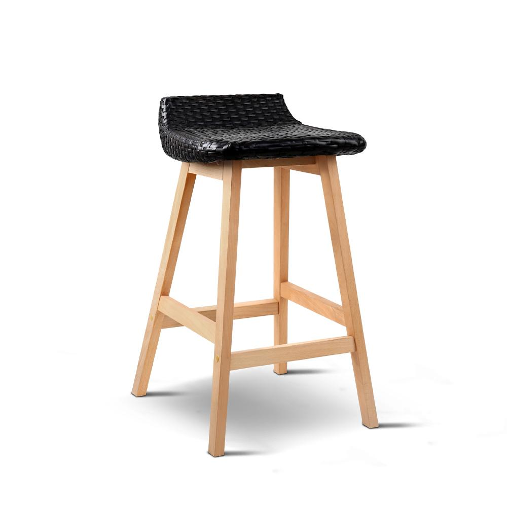 Artiss Set of 2 Weva Bar Stool - Black | 360HomeWare