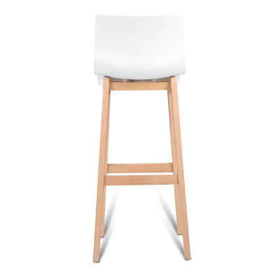 Artiss Set of 2 Beech Wood Bar Stools - White | 360HomeWare