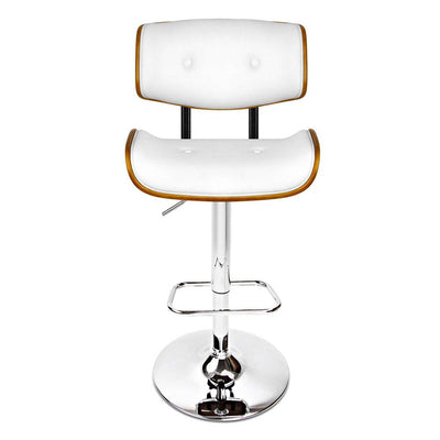 Artiss Wooden Gas Lift  Bar Stools - White | 360HomeWare