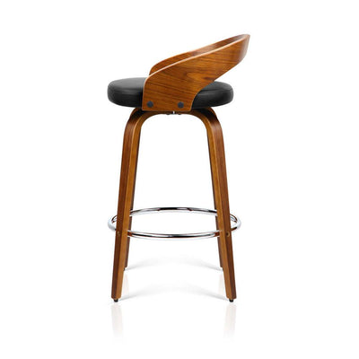 Artiss Set of 2 Wooden Bar Stools - Black | 360HomeWare