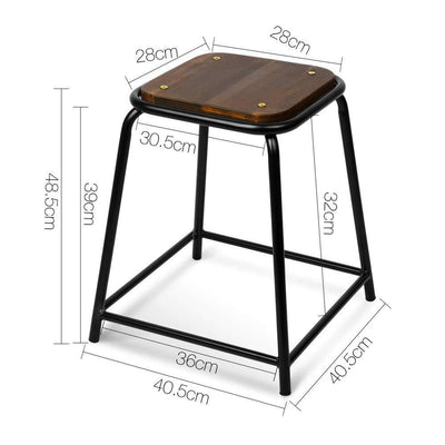 Artiss Set of 4 Pine Wood Bar Stools - Black | 360HomeWare