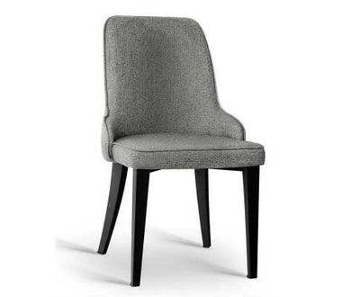 Set of 2 Fabric Dining Chairs - Grey | 360HomeWare