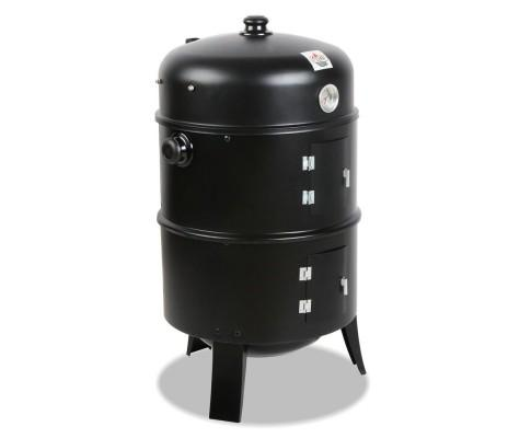 3-in-1 Charcoal BBQ Smoker - Black | 360HomeWare