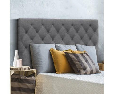 Upholstered Fabric Headboard - Dark Grey | 360HomeWare