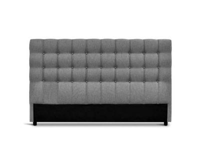 King Size Upholstered Fabric Headboard - Grey | 360HomeWare