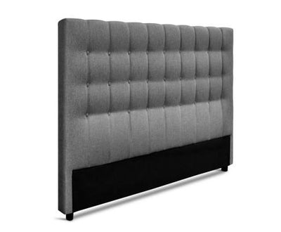 Upholstered Fabric Headboard (Square) - Grey | 360HomeWare
