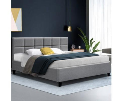 Tino Bed Frame - Grey | 360HomeWare