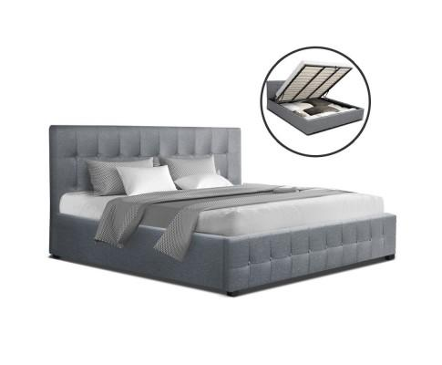 Roca Gas Lift Bed Frame - Grey | 360HomeWare
