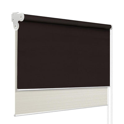 Roller Blinds Blockout Blackout Curtains Window Double Dual Shades 1.8X2.1M CRCO | 360HomeWare