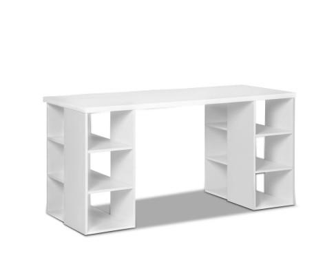 Computer Desk with 3 tier Storage Shelves White | 360HomeWare