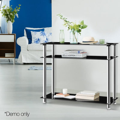 Artiss Entry Hall Console Table - Black & Silver | 360HomeWare