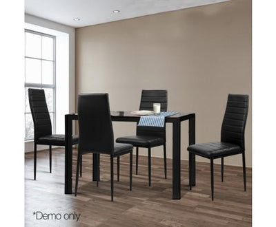 Artiss Astra 5-Piece Dining Table and Chairs Sets - Black | 360HomeWare