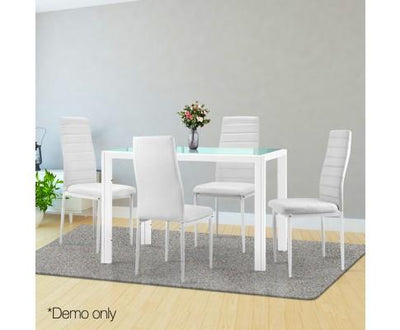 Artiss 5 Piece Dining Table Set - White | 360HomeWare