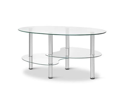 3 Tier Coffee Table - Glass | 360HomeWare