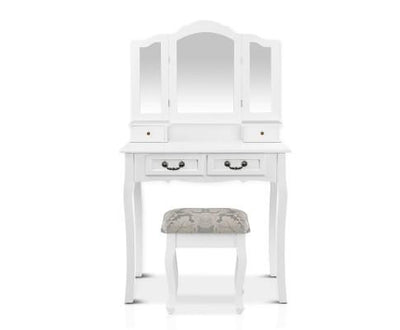 Dressing Table with Mirror - White | 360HomeWare